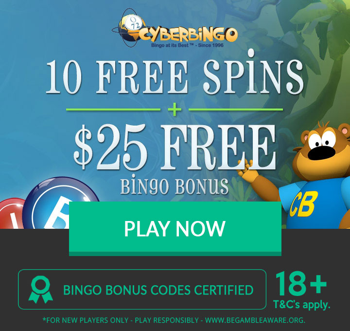 CyberBingo exclusive no deposit bonus